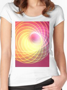 Glowing Spiral Women's Fitted Scoop T-Shirt