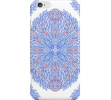 Blue ornamental rectangles iPhone Case/Skin