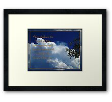 Coming In The Clouds Framed Print