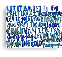 Let it Go Lyrics Canvas Print