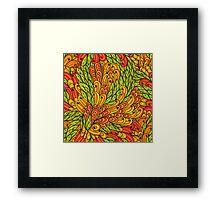 Floral bright doodle pattern Framed Print