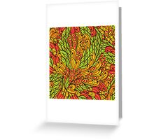 Floral bright doodle pattern Greeting Card