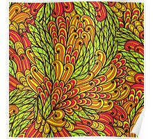 Floral bright doodle pattern Poster