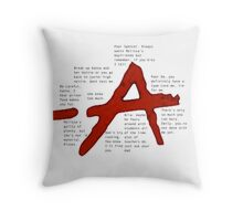pretty little liars A qoutes   Throw Pillow