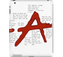pretty little liars A qoutes   iPad Case/Skin