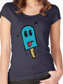 Skull Dezign Ice Pop Women's Fitted Scoop T-Shirt