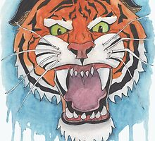 Tiger Watercolor Painting by ColeC