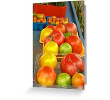 FARM STAND TOMATOES Greeting Card