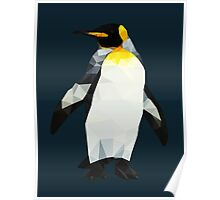 Polygon King Penguin Poster