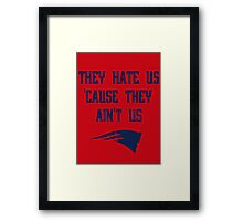 Patriots - They Hate Us 'Cause They Ain't Us Framed Print