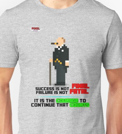 PIXEL People; Winston Churchill Unisex T-Shirt