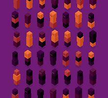Robotz - Gold & Purple by Tomasz Zych