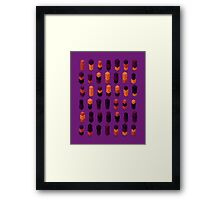 Robotz - Gold & Purple Framed Print