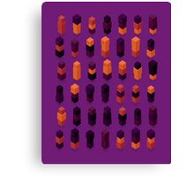 Robotz - Gold & Purple Canvas Print