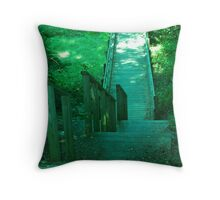 Take the Stairway Down Throw Pillow
