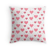Abstract 8-bit oldschool heart pattern Throw Pillow
