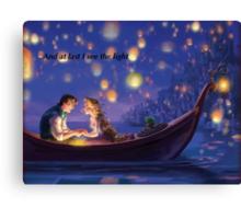 Disneys Tangled Canvas Print