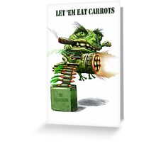 The Cane Toad Fights back Greeting Card