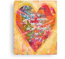 Love is Something You Do Canvas Print