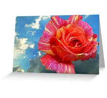 ROSE IN THE SKY Greeting Card