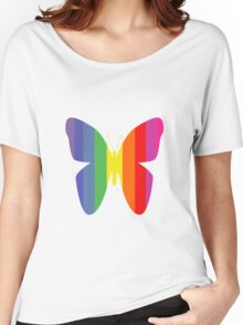 Butterfly Rainbow Women's Relaxed Fit T-Shirt