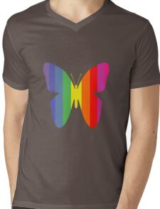 Butterfly Rainbow Mens V-Neck T-Shirt