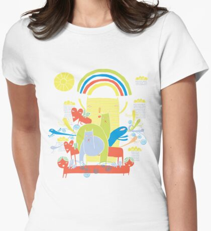 dreaming of spring Womens Fitted T-Shirt