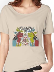 CAT collage style illustration Women's Relaxed Fit T-Shirt