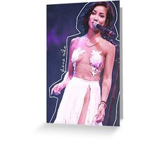 Jhene Aiko Coachella Greeting Card