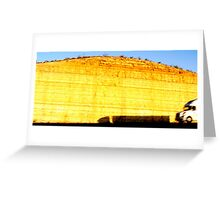 Walls Of Gold Greeting Card