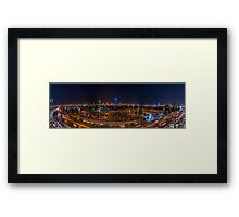 CITY NIGHT SHOT Framed Print
