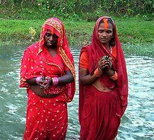 Breaking the Fast of Dasian, Terai Nepal by David Clark