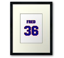 National baseball player Fred Cambria jersey 36 Framed Print