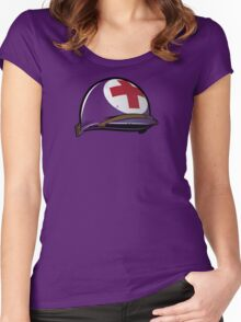Army Medic Helmet Women's Fitted Scoop T-Shirt