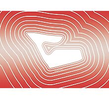 An Outline Of: Red Bull Ring Photographic Print