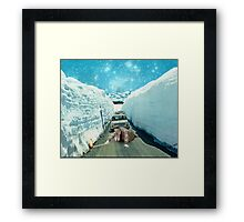 TROUBLE MAKER. Framed Print