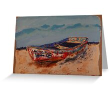 THE OLD BOAT IN PROGRESSO Greeting Card