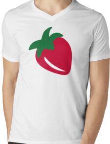 Red Strawberry Mens V-Neck T-Shirt