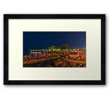 URBAN NIGHT SHOT Framed Print