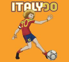 Italy 90 vintage soccer player by digiserrano