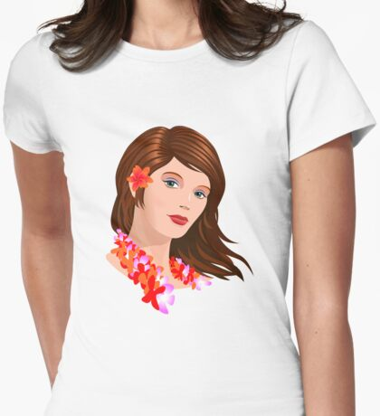 Hawaii Girl Womens Fitted T-Shirt
