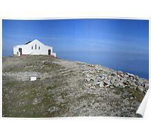 Croagh Patrick church view Poster