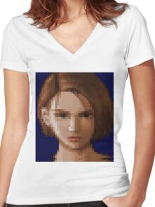 Her Final Escape Women's Fitted V-Neck T-Shirt