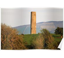 Iniscealtra round tower Poster