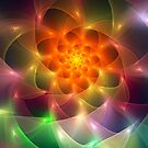 Colourful fractal vortex abstract by walstraasart