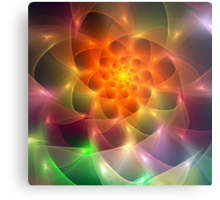 Colourful fractal vortex abstract Metal Print