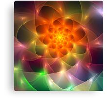 Colourful fractal vortex abstract Canvas Print