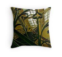 Wrought iron staircase Throw Pillow