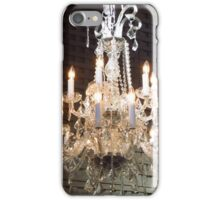 Chandelier in Barn Like Setting iPhone Case/Skin