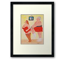 Squeeze me Please me  Framed Print